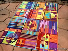 """The Quilting Edge: Quilt Gallery I Love it when """"modern"""" means innovative......This is fabulous!"""