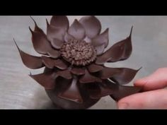 How to make a Chocolate Flower | Alternative Method - YouTube