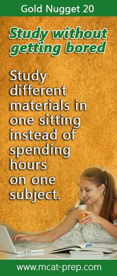 #MCAT study tip. The Gold Standard MCAT-Prep, the only prep you need http://www.mcat-prep.com/