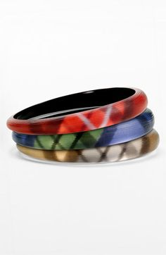 Alexis Bittar 'Tartan' Skinny Tapered Bangle (Nordstrom Exclusive) available at #Nordstrom