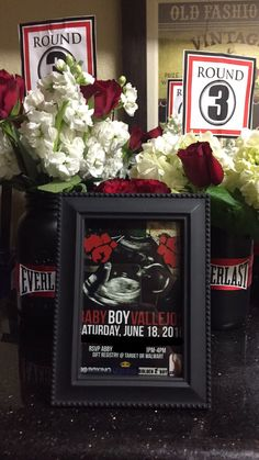Centerpieces Boxing Theme Baby Shower