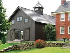 Glamorous Pole Barn Homes convention Other Metro Rustic Exterior Image Ideas with barn Barn Conversion Barn home barn house barn living conversion cupola exposed beams gable Building A Pole Barn, Metal Building Homes, Building Design, Building A House, Building Ideas, Metal Homes, Work Shop Building, Building Plans, Farmhouse Exterior Colors