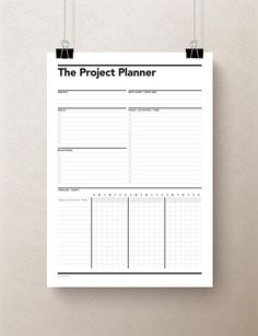 Project Planner & Gantt Chart is part of Planner Organization Student - This Simple One Sheet Printable PDF Project Planner Is Perfect To Get You Organized On Those Complex Projects Simply Print & Start Planning Today! Planner Pdf, College Planner, Study Planner, Planner Pages, Printable Planner, Printables, 2015 Planner, Agenda Planner, Blog Planner
