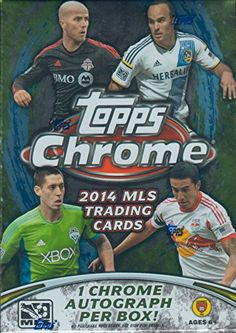 2014 Topps Chrome MLS Soccer Unopened Factory Sealed Blaster Box of 8 Packs with 4 Cards Per and One Autographed Card in Every Box - http://www.rekomande.com/2014-topps-chrome-mls-soccer-unopened-factory-sealed-blaster-box-of-8-packs-with-4-cards-per-and-one-autographed-card-in-every-box/