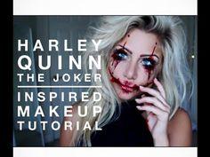 Harley Quinn the joker inspired makeup tutorial | beeisforbeeauty