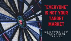 First I was taught everyone was my target market.   Then in the next company it was everyone with skin was my target market.   Then in the next company it was everyone that breathes is my target market.  It's why there's so much rejection and why so many people don't make it and drop out of the industry.  #1 Fallacy of Network Marketers…