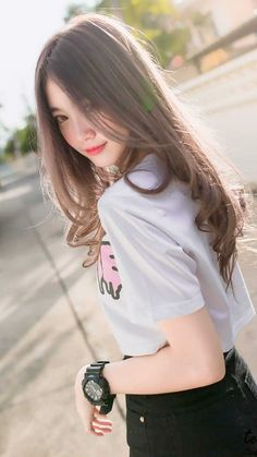Latest Asian Woman Long Hairstyle Trends for Winter – Trendy Fashion Ideas Ulzzang Korean Girl, Cute Korean Girl, Cute Asian Girls, Beautiful Asian Girls, Cute Girls, Asian Cute, Pretty Asian, Emo Girls, Japanese Model