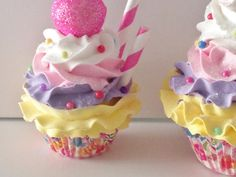 Fake Cupcake Photo Prop Birthday Party by FakeCupcakeCreations, $20.50