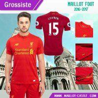 Nouveau maillot pas cher FC Liverpool (LOVREN 15) Domicile 2016-2017 | maillot-castle
