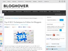 Top 8 SEO Techniques to Follow for Bloggers~BlogHover