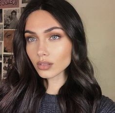 Natural Makeup Ideas That Will Leave You Looking Flawless Beauty Make-up, Beauty Hacks, Hair Beauty, Make Up Looks, Pelo Chocolate, Natural Makeup For Teens, Models Makeup, Winter Hairstyles, Brunette Hair