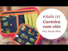 Patch & Arte com Lanmax - #aula111 - Carteira com viés - YouTube Sewing Hacks, Sewing Tutorials, Sewing Projects, Sewing Patterns, Diy Purse, Clutch Purse, Fabric Wallet, Summer Handbags, Backpack Pattern