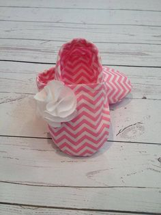 Light Pink Chevron Baby Girl Shoes by BabyTBoutique on Etsy, $18.00