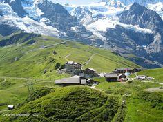 Railway station at Kleine Scheidegg, Switzerland  Kleine Scheidegg by karenblakeman on Flickr.