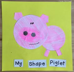 2D Shape Spring Animal Crafts Shape Activities Kindergarten, Geometry Activities, Nursery Activities, Kindergarten Art, Classroom Crafts, Preschool Crafts, Color Shapes, Colour, 2d And 3d Shapes