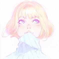 Kuvshinov Ilya is creating Illustrations and Comics Art Anime Fille, Anime Art Girl, Manga Girl, Cartoon Kunst, Cartoon Art, Aesthetic Art, Aesthetic Anime, Female Character Design, Character Art