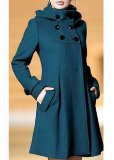 New Arrival Long Sleeve Woolen Coat with Button on sale only US$22.81 now, buy cheap New Arrival Long Sleeve Woolen Coat with Button at martofchina.com