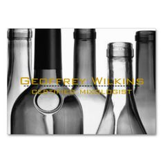 Wine Bottles Professional Business Cards