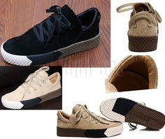 Women Fashion Flatform Skate Sneaker Leather Casual Streetwear Shoes Trainer