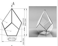 Glass Planter, Glass Terrarium, Stained Glass Projects, Stained Glass Patterns, Terrarium Wedding, Geometric Decor, Geometric Box, Glass Candlesticks, Window Hanging