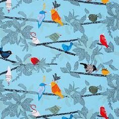 Evalotta - Blue, Multicolour - IKEA Fabric Collection ( 402.218.01)