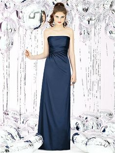 Social Bridesmaids Style 8122 http://www.dessy.com/dresses/bridesmaid/8122/ Midnight (available in Sapphire, but not sailor)