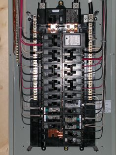 200 amp main panel wiring diagram, electrical panel box diagram AutoCAD Electrical Panel Wiring Diagram siemens 30 40 150a main breaker panel all breakers are siemens ite, except for the surge protector (square d) and the gfci and afci breakers (ge)