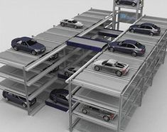 Hydraulic Drive and Steel Rope Underground Garage Car Stacking System Smart Car Parking hydraulic cars Car Park Design, Parking Design, Parking Building, Car Parking, Sustainable Schools, Hydraulic Cars, Parking Solutions, Underground Garage, Modern Garage