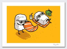 Summer Sushi by flyingmouse365 on Etsy