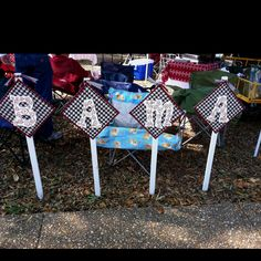 Shirley's Bama letters for tailgating!
