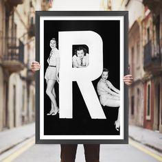 Placa decorativa R - StickDecor | Decoração Criativa