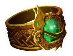 Andvari's ring (Andvaranaut). Stolen by Loki from Andvari that cursed it, and then given by Odin to Hreidmarr, the dwarf king.