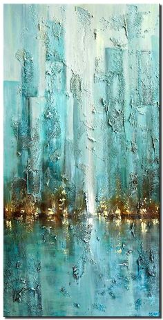 Painting for sale - contemporary city painting modern palette knife blue abstract city Abstract City, Abstract Canvas Art, Diy Canvas Art, Abstract Art Blue, Modern Abstract Art, Modern Canvas Art, Abstract Landscape, City Painting, Painting For Sale