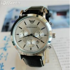 New fashion Armani Men Watches Leather Belt Watch