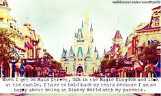 I get that way in Disneyland...