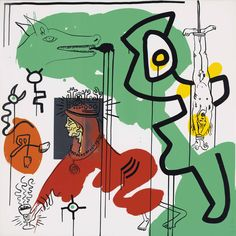 Bid now on Apocalypse, pl. VI (from Apocalypse by William S. Burroughs) by Keith Haring. View a wide Variety of artworks by Keith Haring, now available for sale on artnet Auctions. K Haring, James Rosenquist, Keith Haring Art, Claes Oldenburg, Chip Art, Pop Art Portraits, Jasper Johns, Principles Of Art, Art Walk
