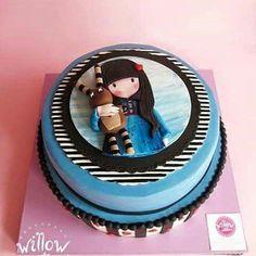Gorjuss with rabbit cake Teen Cakes, Girly Cakes, Cute Cakes, Birtday Cake, Baby Birthday Cakes, Art Party Cakes, Cake Art, Cake Original, Apple Cake Pops