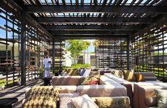 Luscious Integrated Sunset Cabana with seethrough Timber Screen and Outdoor Space | Alila Villas Uluwatu | Bali