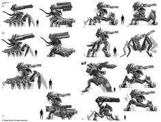 Crysis 3 thumbnail mech concepts by Trudsss on DeviantArt