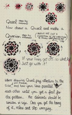 Life Imitates Doodles: New tangle patterns Querl & Quarion