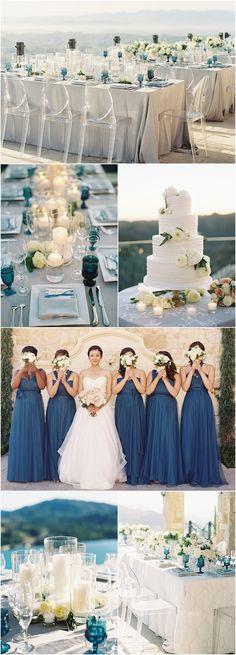 Heavenly Blue California Wedding Featured Photographer:Â Caroline Tran; Aisle Runner Wedding, Yacht Wedding, Beach Wedding Reception, Beach Wedding Photos, Beach Wedding Decorations, Mod Wedding, Chic Wedding, Blue Wedding, Perfect Wedding