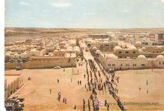 postal sahara español,el aaiun.vista general desde la iglesia de s. francisco de asis.desfile milita - Foto 1