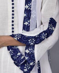 45 Trending sleeve designs for salwar suits Kurti Sleeves Design, Sleeves Designs For Dresses, Kurta Neck Design, Neck Designs For Suits, Dress Neck Designs, Sleeve Designs, Blouse Designs, Salwar Designs, Simple Kurti Designs