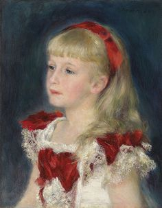 Mademoiselle Grimprel with Red Ribbon (Helene Grimprel), 1880.  Renoir