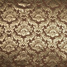 A bold gold damask pattern sits atop this stunning medium-weight Italian brocade. A stiffer drape, use it for structured applications that require a little glitz. A jacket or sheath would be especially lovely.