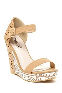Bucco Bethes Cutout Platform Wedge by Bucco on @HauteLook