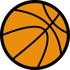 Vector illustration of a basketball ball image with a thick border. Color clip art of a ball used in the game of basketball. Basketball Games Online, Basketball Rules, Basketball Party, Basketball Birthday, Basketball Uniforms, Sports Basketball, Basketball Players, Basketball History, Basketball Floor