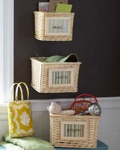 DIY Simple Storage Baskets - Right now, our onions and potatoes and whatnot have no place to go and this is what I'm thinking.