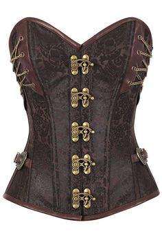 With the help of the authentic steel boning found in the14 Steel Bone Steampunk Custom Made Corset with Thong, you can rest assured that your corset will last years even with consistent wear. Faux lea