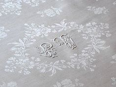 Antique French Linen Tablecloth and Napkins set